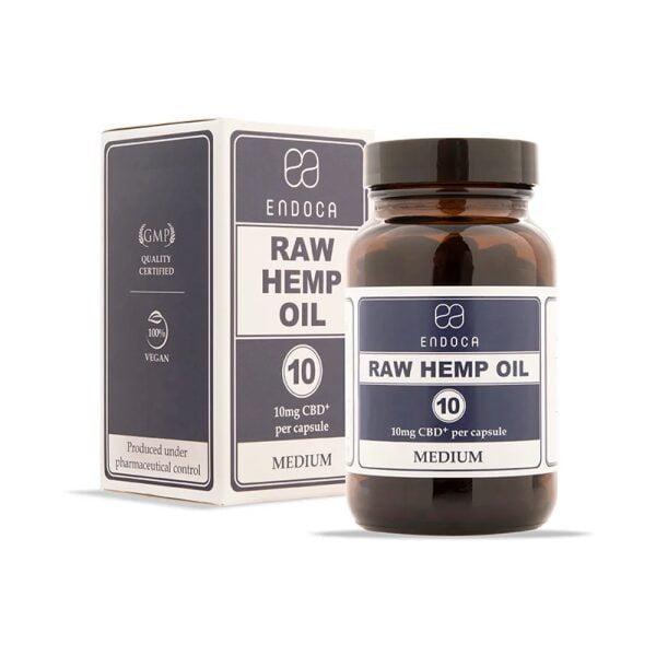 Raw CBD capsules Endoca 3%