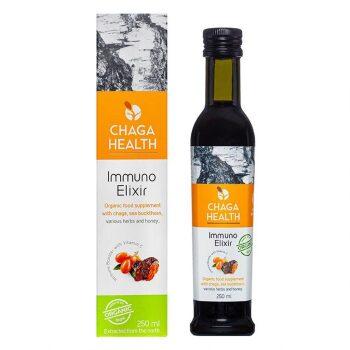 Chaga Health Elemental Elixir Chaga & Duindoornbes Biologisch