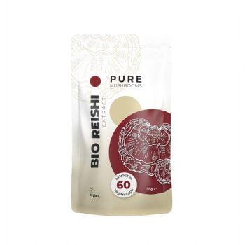 Pure Mushrooms Reishi Capsules Paddenstoel Extract BIO 60 stuks