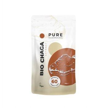 Pure Mushrooms Chaga Capsules Paddenstoel Extract BIO 60 Stuks