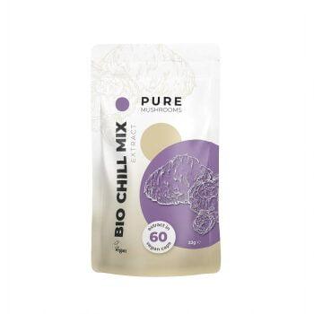 Pure Mushrooms Chill Mix Capsules Paddenstoel Extract BIO 60 Stuks