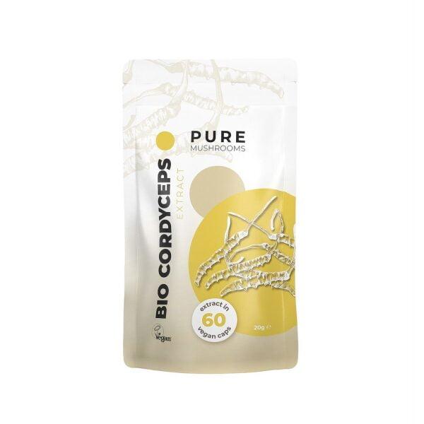 Pure Mushrooms Cordyceps Capsules Paddenstoel Extract BIO 60 stuks