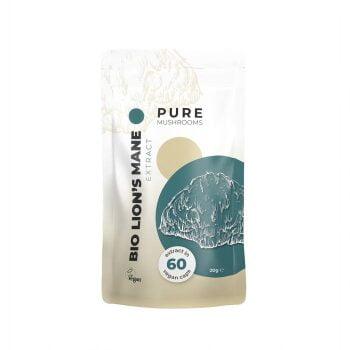 Pure Mushrooms Lion's Mane Paddenstoel Extract Capsules BIO 60 Stuks